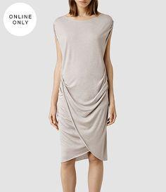 Womens Warp Wo Dress (Aubergine) - product_image_alt_text_1