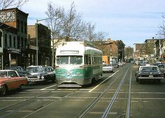 """DC Transit """"Silver Sightseer"""" PCC was air conditioned. In an effort to save the streetcars, O. Roy Chalk, owner of DC Transit offered to air condition the streetcars but Congress was set on eliminating them. They apparantly enjoyed the fumes from buses!"""