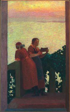 Maurice Denis, Balcón en el crepúsculo, 1918 c.. Carmen Pinedo Herrero: Asómate al balcón
