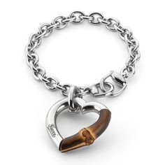 gucci silver bracelet with bamboo heart - Google Search