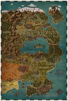 Expanded my last map (Province of Albion) from Inkarnate! Album in Comments! : mapmaking