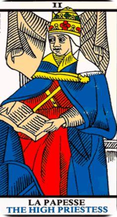 La Papesse tarot card