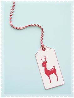 Holiday Reindeer Gift Tag