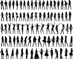 ноги девушки силуэт - Поиск в Google