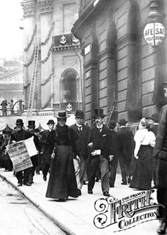 Street of Queen Victoria in London, England. From the Frances Frith collection. - Informations About Street of Queen Victoria in London, England. Victorian Life, Victorian London, Victorian Photos, Vintage London, Old London, London City, London Street, Victorian History, Tudor History