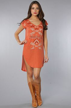 #FreePeople Bangarang Graphic Tunic. Way cool. #tribal. Love the red/orange color.