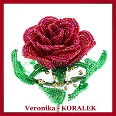 Sometimes I want to give a rose that would by nice for a longer time. I used Preciosa seed beads, Toho and copper wire French Beaded Flowers, Beaded Jewelry, Jewellery, Seed Beads, Christmas Ornaments, Copper Wire, Holiday Decor, Rose, Beading