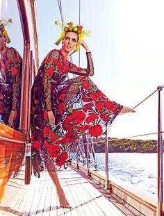 Hilary Rhoda by Mariano Vivanco by Vogue Japan, May 2015