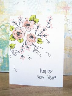 Card 4 - Painted Flowers