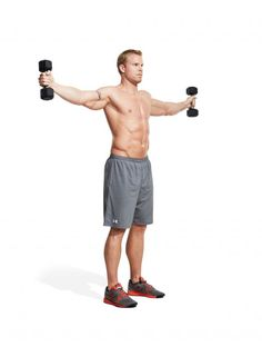 How to do a shoulder dumbbell raise complex | Men's Fitness