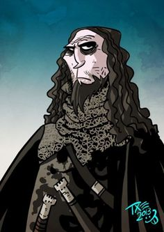 """Black Walder Frey by The Mico. """"With Ser Stevron, I might have been able to make amends, but Ser Ryman is dull-witted as a stone, and Black Walder ... that one was not named for the colour of his beard, I promise you. He went so far as to say that his sisters would not be loath to wed a widower. I would have killed him for that if Jeyne had not begged me to be merciful."""""""