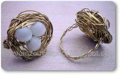 Anzouya: Wire Bird's Nest Rings