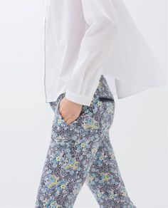5 POCKET PRINTED TROUSERS from Zara