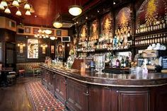 The George is a Victorian pub located in London's West End. The pub is owned by the Greene King Brewery and like many Victorian pubs is deco. Pub Design, Restaurant Design, Modern Restaurant, Pub Bar, Cafe Bar, Bodega Bar, Pub Free, Bar Deco, Victorian Bar