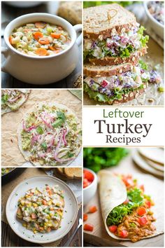 Got too much Leftover Turkey? No problem! We've got deliciously EASY Leftover turkey recipes to help you creatively use up all that leftover Thanksgiving turkey! From ideas that don't even require a recipe, to simple recipes for turkey tacos, grilled cheese, wraps, refreshing salads, turkey soup … even dog treats! (And so much more!) Your Thanksgiving leftovers will never feel boring again, and next year, you might WANT to make extra turkey! | leftover turkey ideas…
