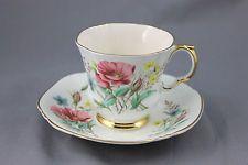 Royal Vintage ADDERLY chá xícara e Pires Wild Rosas Rosa