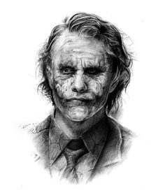 The Joker de Heath Ledger by on DeviantArt Joker Sketch, Joker Drawings, Marvel Drawings, Joker Pics, Joker Art, Batman Art, Joker Batman, Gotham Batman, Batman Robin
