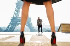 It's all about the Louboutin's and of course the Eiffel Tower.  Wedding anniversary photo taken by Fran Boloni The Paris Photographer