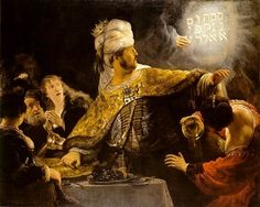 Rembrandt - Belshazzar's Feast - oil on canvas (168 × 209 cm) — ca. 1635/39