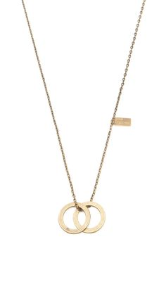 Double Love Ring - Brass circle necklace