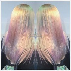 Inspiring Pastel Hair Color Ideas – My hair and beauty Opal Hair, Blonde Haircuts, Corte Y Color, Blonde Color, White Blonde, Super Hair, Mermaid Hair, Mermaid Makeup, Rainbow Hair