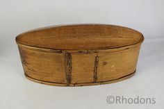 Antique Scandinavian Bent Wood Tina Box or Svepask.  Small sized oval shaped Bent Wood Tina Box. Having an very unusual domed lid. Believed to have originated from Scandinavia (Norway?) and date to the late 19th Century - circa 1880's