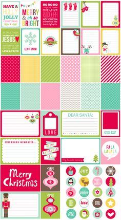 Project Life Christmas printables.