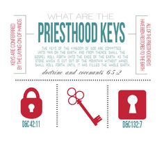 All Things Bright and Beautiful: Come Follow Me: Priesthood Keys