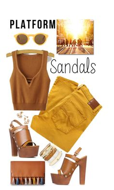 """Stand Up! Platform Sandals"" by shortyluv718 ❤ liked on Polyvore featuring Chico's, Nobody Denim, Rebecca Minkoff, CÉLINE and platforms"