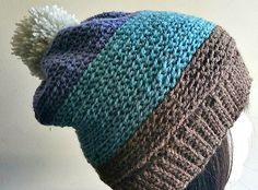 This beanie uses a simple stitch with an amazing look.