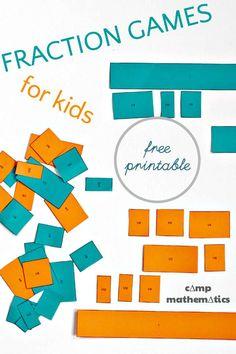 Math Fraction Games for Kids #STEM