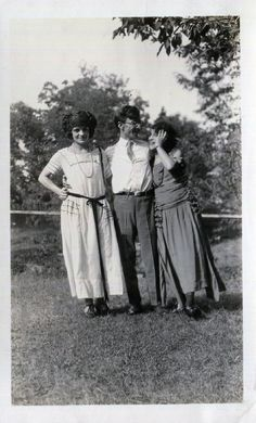 An original vintage black and white snapshot photo..a shy girl posing with her friends on the lawn..1910s  ** 3 3/4 x 6   I have a passion for vintage photographs, snapshots, vernacular and found photos and paper ephemera. Its a way of preserving and connecting with the past.  Old photos can be used for interior wall hangings, altered art and mixed media projects, for greeting cards and for collecting. Vintage photos are a snapshot moment in time and each one tells its own story. Some p...