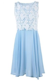 blue dress with lace from zaful.com
