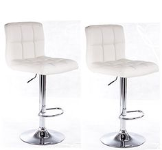 Modern Set of (2) Brand New White Swivel Leather Bar Stool Pub Barstools Best Choice Products http://www.amazon.com/dp/B0055LIBCS/ref=cm_sw_r_pi_dp_f8ygvb0G51RRG