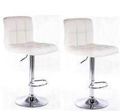 Modern Set of (2) Brand New White Swivel Leather Bar Stool Pub Barstools Best Choice Products http://www.amazon.com/dp/B0055LIBCS/ref=cm_sw_r_pi_dp_f8ygvb0G51RRG