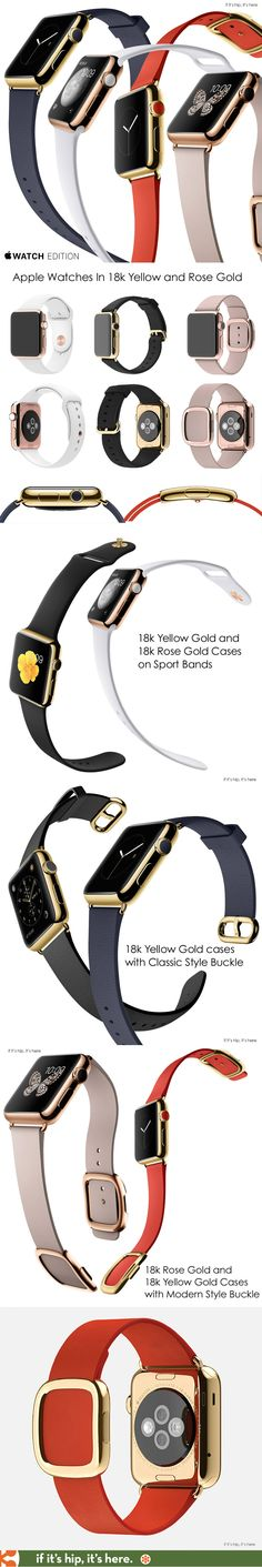 Apple's New 18k Yellow and Rose Gold Watches. #applewatch #luxury | http://www.ifitshipitshere.com/apple-watch-18k-gold/