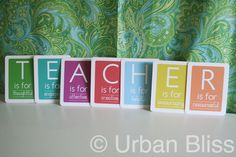 20 Great Teacher Appreciation Gift Ideas   *T-E-A-C-H-E-R flashcards