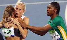 Great Britain's Lynsey Sharp cries out !!! A tearful Lynsey Sharp said the decision to overturn rules on testosterone suppression made competing against the women's Olympic 800m champion, Caster Semenya, and other hyperandrogenic athletes difficult.