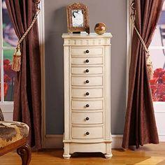 muscat 8 drawer jewelry armoire by nathan direct nathan direct httpwwwamazoncomdpb004ha3fqarefcm_sw_r_pi_dp_il4qvb0dmdh9f amazoncom antique jewelry armoire