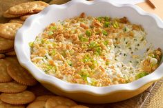 Topped with a sprinkling of buttery cracker crumbs, this creamy, cheesy dip packs all the flavor of a jalapeño popper in every scoop.