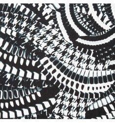 Jersey noir et blanc imprimé écaillé