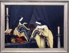 """""""Dialogue au Carmel"""" by Clovis Trouille by tenebrouskate, via Flickr  DeLISH!"""