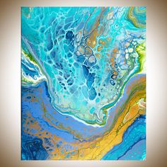 Fluid art Abstract painting Acrylic fluid painting large