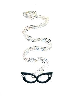 Retro Cat Eye Meow Glasses Necklace  Red by PunkUpBettie on Etsy, $13.00