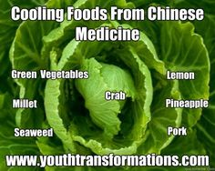 Cooling Foods From Chinese Medicine