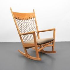 Rare Hans Wegner Rocking Chair, manufactured by PP Mobler. Palm Beach Modern Auctions image