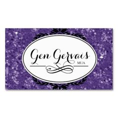 Customizable Glitter MUA Business Card Template created by Colourful Designs Inc.