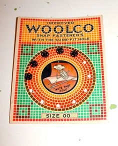 Vintage Woolco Snap Fasteners Sewing Buttons 1950s by poetsy, $3.00
