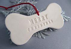 Dog Christmas Ornament - Merry Christmas - Gift Boxed