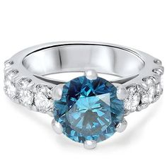 Engagement Rings Simple   3 12ct Blue Diamond Engagement Ring 14K White Gold ** Check this awesome product by going to the link at the image.(It is Amazon affiliate link) #l4l